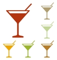 Cocktail sign vector image