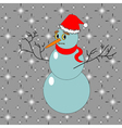A funny Christmas snowman vector image
