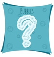 Abstract element Question mark made of bubbles vector image