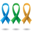 AIDS ribbons vector image