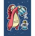 astrological sign aquarius vector image