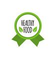 bio food badge vegan logo healthy food vector image