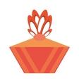 colored gift box decorative orange bow vector image