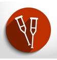 crutch flat icon vector image