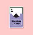 paper sticker on stylish background playing cards vector image