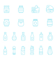Thin lines icon set - ketchup vector image