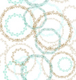 Vintage seamless patern blue brown circle on white vector image