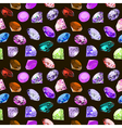 seamless background with glittering vector image vector image