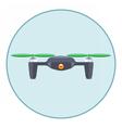 Digital silver drone with recording camera vector image