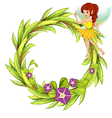 Fairy Floral Frame vector image vector image