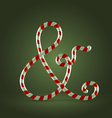 Candy cane abc ampersand vector