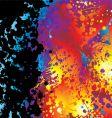 black ink splat border rainbow vector image