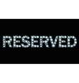 Diamond word reserved vector image