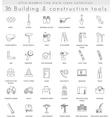 Building Construction ultra modern outline vector image
