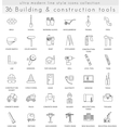 Building Construction ultra modern outline vector image