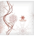 Vintage Christmas card with decorative snowflakes vector image