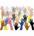 rise hand vector image vector image