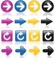 Colorful glossy arrows vector image