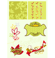 Cute baby-style spring set vector image
