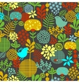 eamless pattern with colorful birds vector image