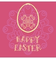 Easter greeting card with egg and abstract vector image