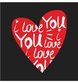 heart made of I love you phrase vector image