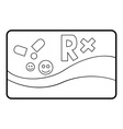 Medical card chronic diseases icon outline style vector image