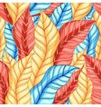 multicolored pattern of leaves vector image