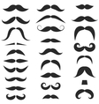 Set of hipster mustache on white background vector image