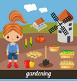 sweet girl agronomist vector image