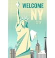 Welcome to New York poster retro design vector image