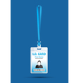 id card man blue vector image