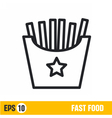 line icon fries vector image