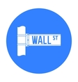 Wall Street sign icon in black style isolated on vector image