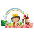 Cartoon Castle King vector image vector image