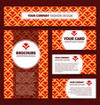 corporate identity design with chinese pattern vector image vector image