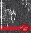 Romantic Invitation Card Design With Chandelier vector image vector image