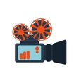 film projector  over white vector image