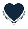 heart laurel wreath icon vector image