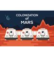 Mars Colonizations Coloni vector image