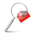 At Sign in Red Envelope - Email Icon with vector image