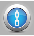 blue metal button - hanging chain with hole vector image