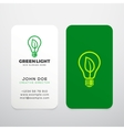 Green Light Realistic Business Cards vector image