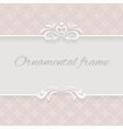 Paper lace background ornamental frame vector image