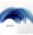 Abstract blue swirl design vector image