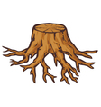 old tree stump with roots vector image vector image