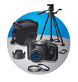 photography equipment vector image vector image