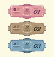 Vintage Design Labels infographic template vector image vector image