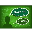 back to school speech and thought vector image vector image