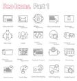 seo icons set part 1 line design modern vector image